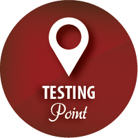 HIV testing points / clinics - AHF Nigeria and partners - get tested for hiv and free condoms - map marker